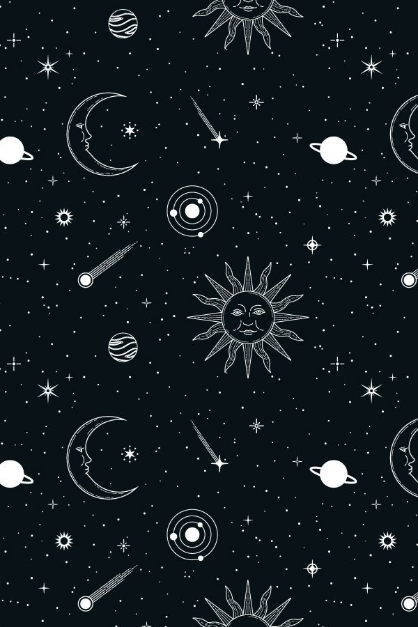 Celestial Seamless Patterns Witchy Wallpaper Cute Emoji Wallpaper Cute Wallpapers