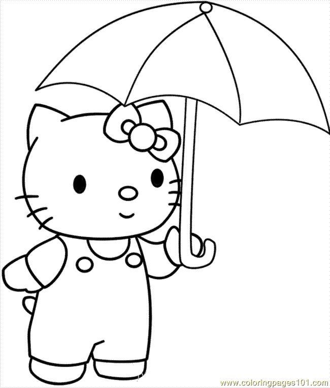 Google Hello Kitty Coloring Pages : Best images about coloring pages winter on pinterest