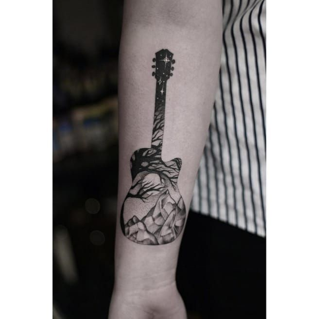 best 25 guitar tattoo ideas on pinterest guitar drawing cello tattoo and drawings of tattoos. Black Bedroom Furniture Sets. Home Design Ideas