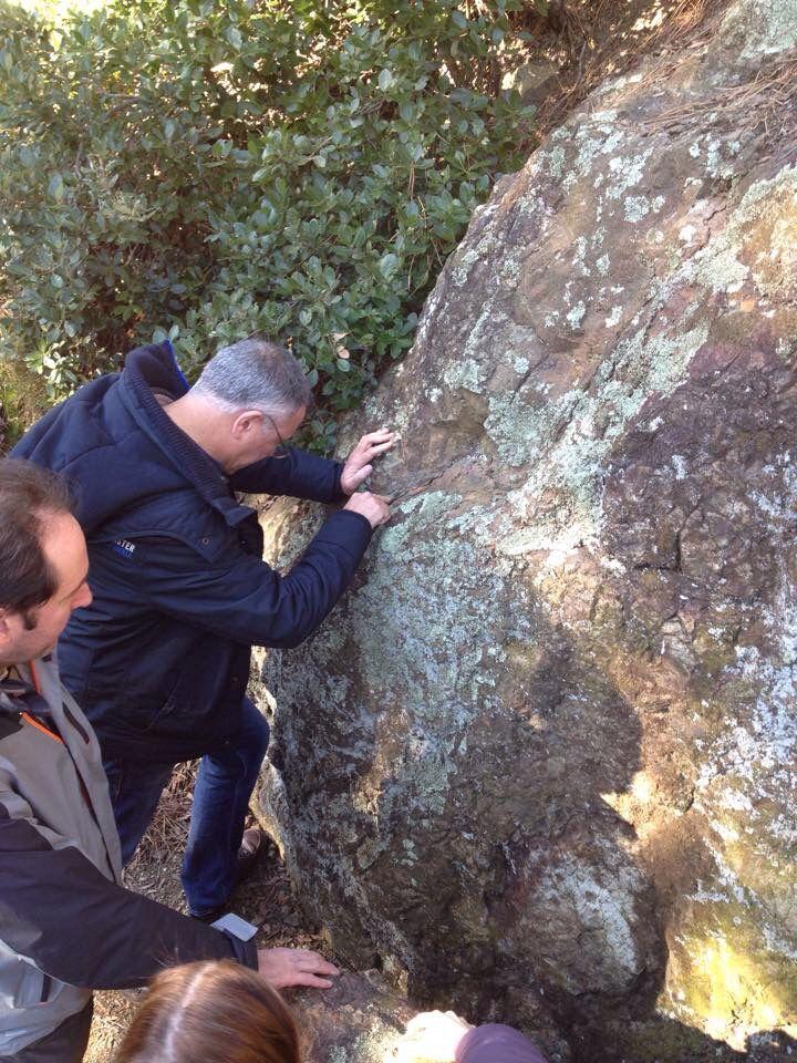 Visita dei docenti di geologia dell'Università di Genova