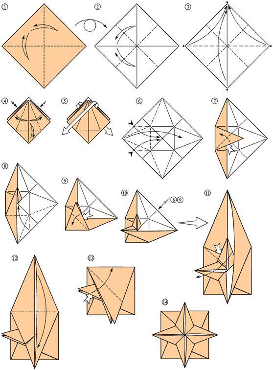 tuto origami star