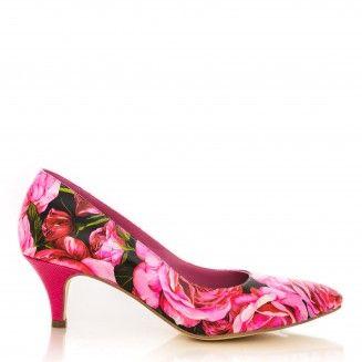 pantofi stiletto din piele naturala 1200 bujori