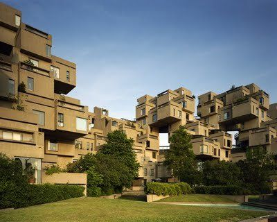 Cubic architecture in Montreal (Canada)