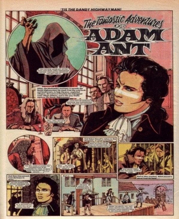 Retro comic - Adam Ant 1981