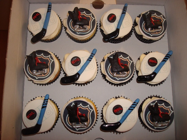 NHL Ice hockey cupcakes by Angelina Cupcake, via Flickr