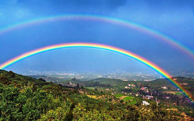 Gambar Pelangi Bertingkat - Double Rainbow