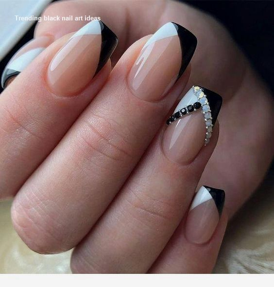 20 einfache schwarze Nail Art Design-Ideen #blacknails – Black Style Nails