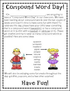 The Open Door Classroom: Compound Word Day!