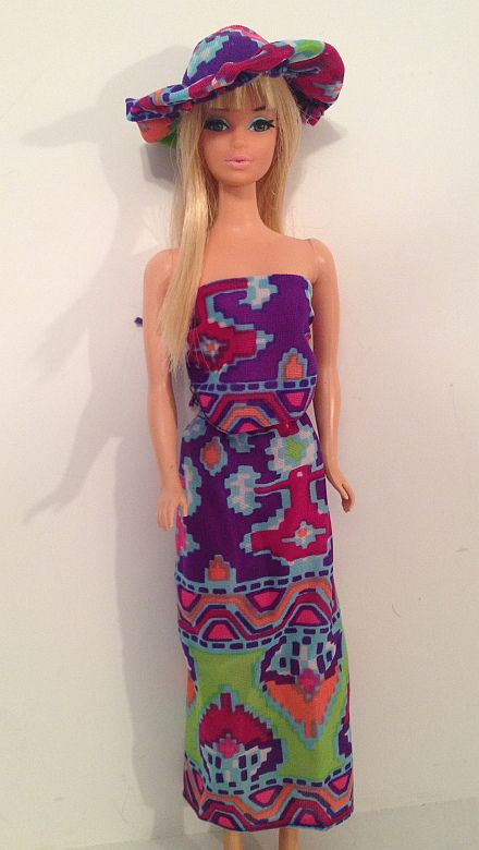 OOAK by Kelly Nicole Johnson. Fashion is 1976 Indian print.
