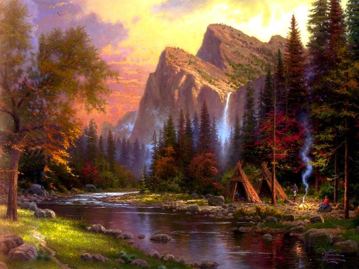 It's so pretty Thomas Kinkade's art always makes me think about Heaven and how beautiful it will be :)