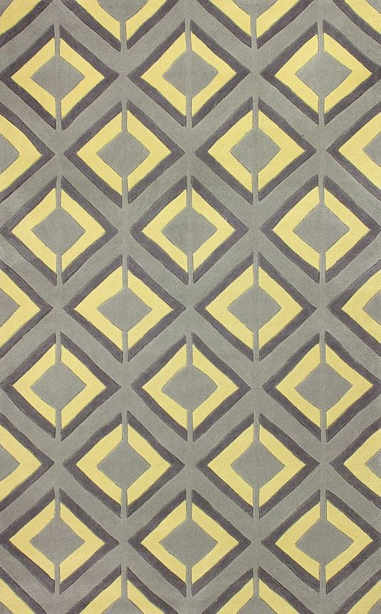 5 Off When You Share Keno Trellis Acr207 Yellow Rug