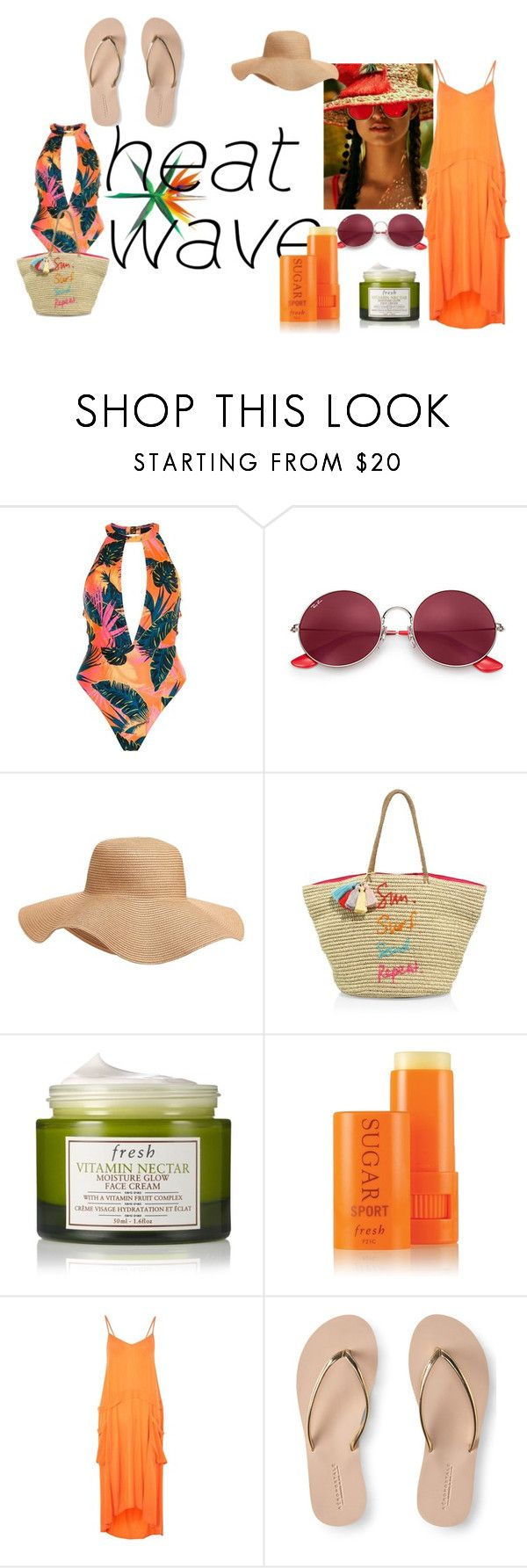 """#heatwave"" by hajer-bh ❤ liked on Polyvore featuring River Island, Ray-Ban, Old Navy, Rebecca Minkoff, Fresh, Topshop and Aéropostale"