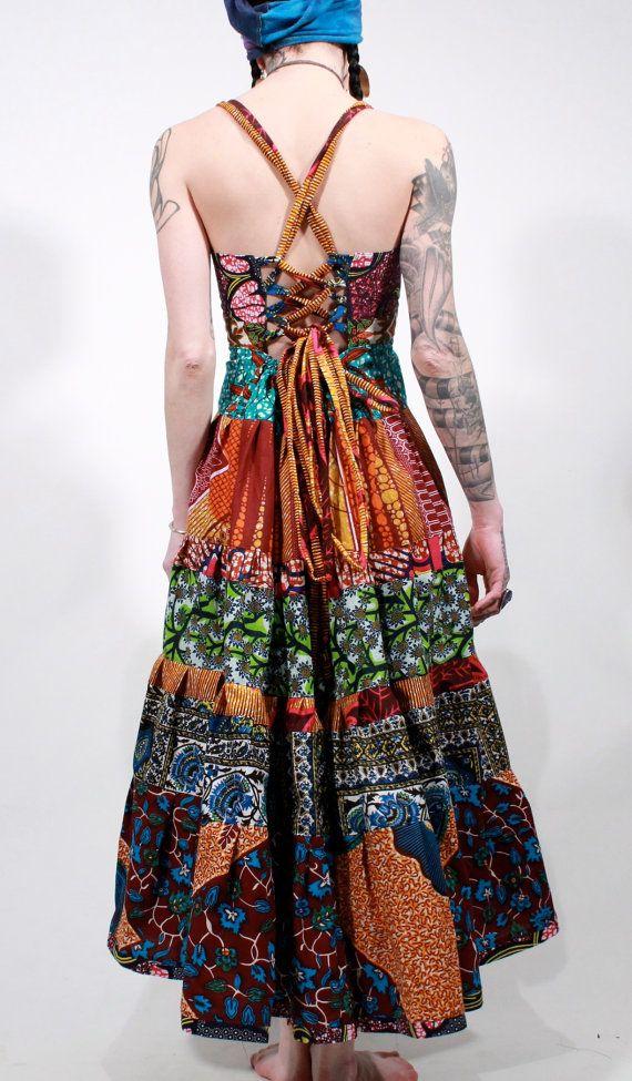 African wax print tribal ethnic gypsy bohemian by ChopstixWaits