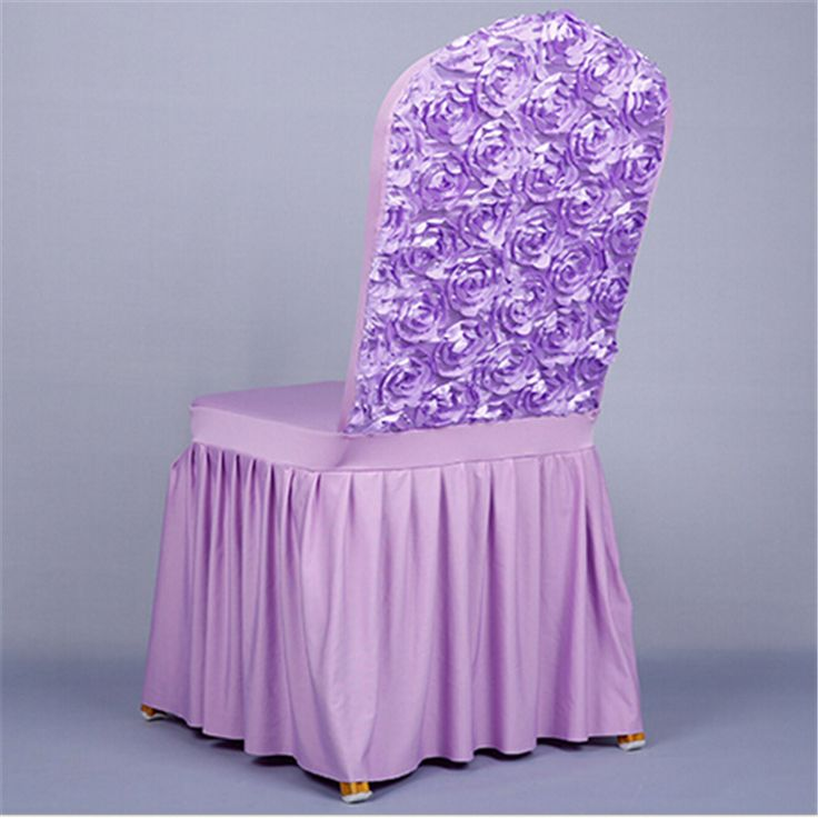 Chair Cover Rose decoration Polyester Spandex Dining Chair Covers For Wedding Party Chair Cover  Dining Covers party decoration