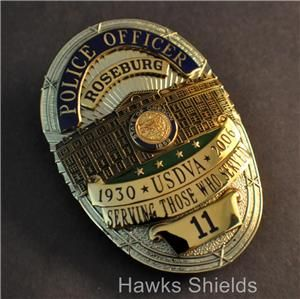 US DEPARTMENT OF VETERANS AFFAIRS POLICE BADGE