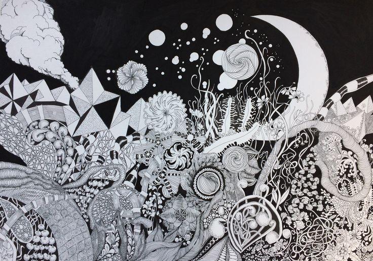 Journey (ink on paper - 70 x 50 cm)