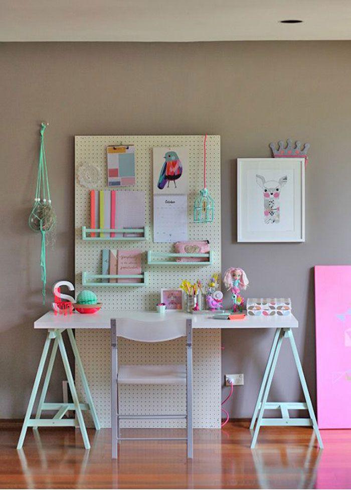 post pegboard escritorio infantil