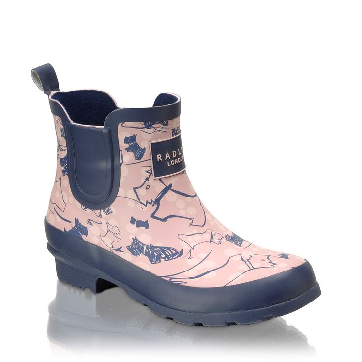 The Cherry Blossom Dog ankle wellie boots are fabulous rubber boots for all  sorts of outdoor