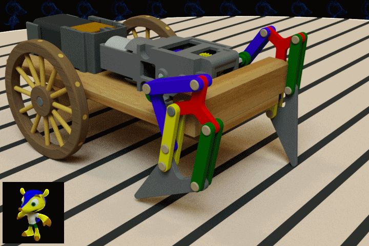 Walking Carriage Wooden Toy - SOLIDWORKS,AutoCAD,Parasolid - 3D CAD model - GrabCAD