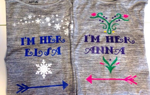 Frozen Inspired I'm her Anna shirt Kid Size, Elsa shirt in another listing, friends sisters gift kids girls toddlers shirt, disney Shirt