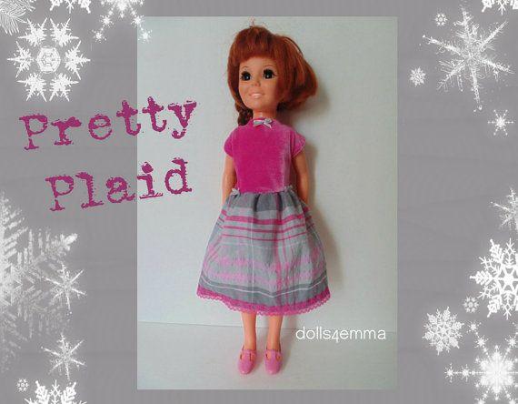 Vintage ideale CRISSY Doll kleding vakantie Babydoll jurk - handgemaakte Custom mode - door dolls4emma