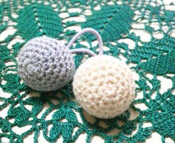 編み玉のヘアゴム♪の作り方|編み物|編み物・手芸・ソーイング|ハンドメイドカテゴリ|アトリエ