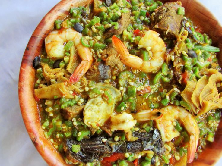 Ila Alasepo. Okra (Okro) is popularly known as ila by the Yoruba people, while Asepo means 'cooking together', even the soup can be explained as mixed okra