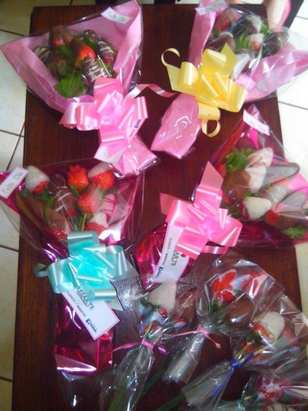 Ramos de fresa y chocolate