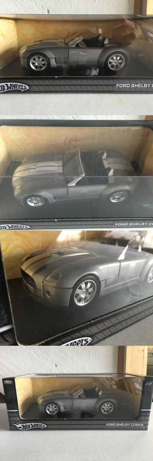 Contemporary Manufacture 180506: Hot Wheels Ford Mustang Shelby Cobra Diecast 1:18 Gray Blue Seats 2004 Nib -> BUY IT NOW ONLY: $34.99 on eBay!