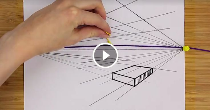 Il trucco per disegnare in prospettiva con l'elastico |