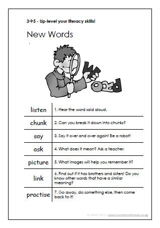 English L3 to L5s - Up-Levelling Prompt Sheets: The sheets cover spelling, learning new vocab, reading between the lines, structuring writing etc.
