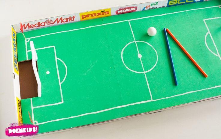 Pizzadoos voetbalspel