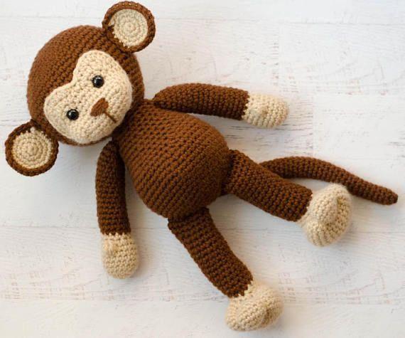The cutest Crochet Amigurumi Monkey Pattern! Love this! | crochet365knittoo #crochetmonkey #monkeyamigurumi #crochetpattern