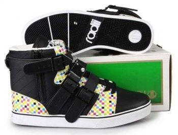Radii Straight Jacket Black/White/Rainbow Shoes [Radii Straight Jacket Black/White/Rainbow Shoes] - $83.00