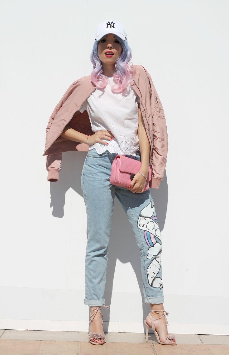 the ragged priest jeans, tendenze primavera estate 2016, tendenze moda 2016, bomber primavera 2016, borsa chanel rosa, capelli pastello, outfit primavera 2016, fashion blog, fashion blogger italiane, fashion bloggers, migliori look primavera estate 2016, moda blogger 2016, pink trend, accessori rosa 2016,