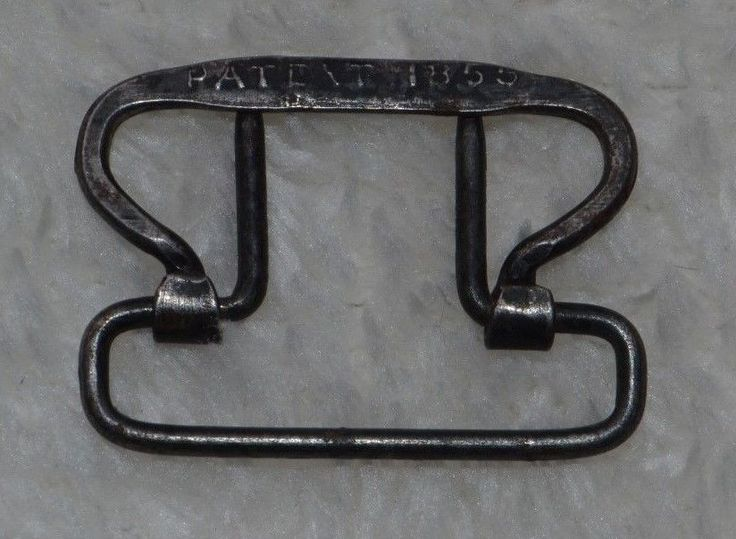 Civil War Relic Suspender Buckle 1855 Patent Date Solid