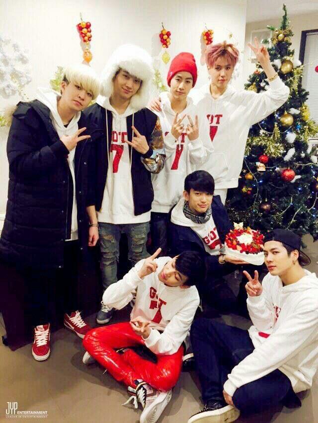 JB, JR, BamBam, Yuygeom, Mark, Jackson, Youngjae