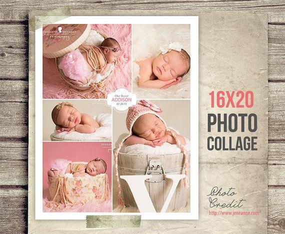 Newborn Photo Collage  Baby Picture Collage  by StudioTwentyNine, $8.00