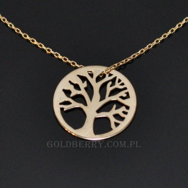 #Drzewo #życia #naszyjnik #złoty #goldberry