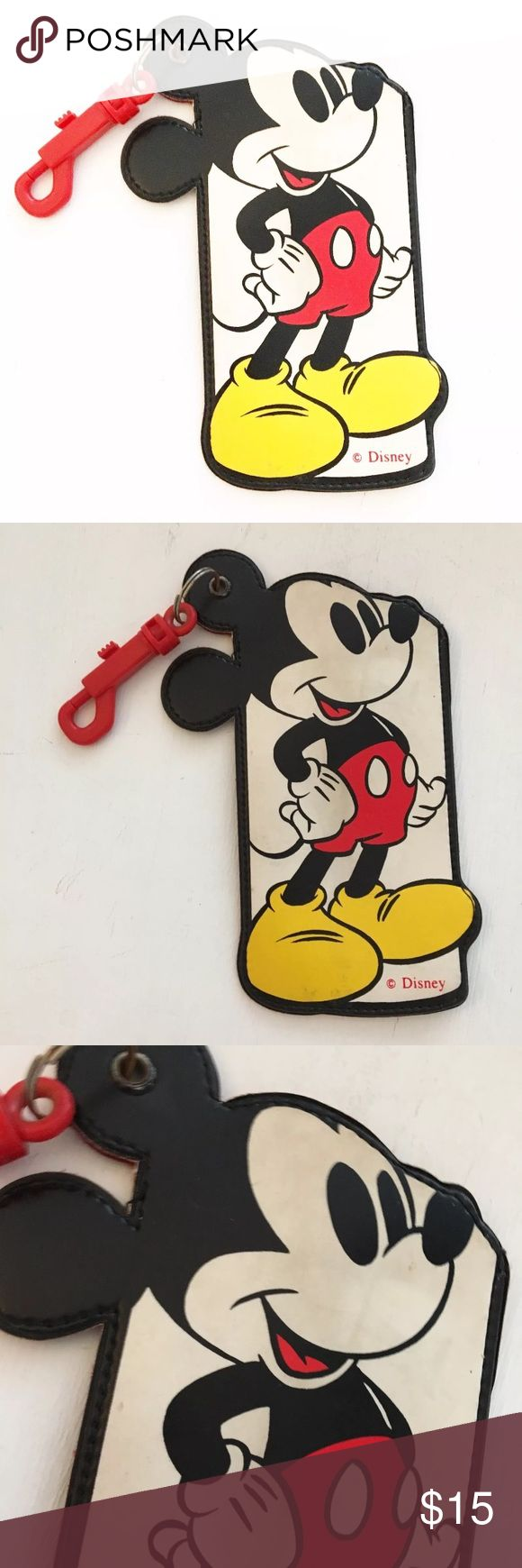 "Vintage Mickey Mouse Disney Manchon Clip Case Approx. 7"" by 3.5"". Please see all pictures for an accurate description of condition. Very minimal normal wear. Vintage Bags"