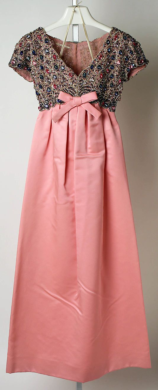 Christian Dior dress gown fall/winter 1963-1964 Rosemonde House of Dior Paris Made in France.