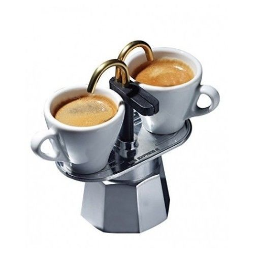 Espresso Maker Traditional Vintage Aluminium Mini Express Double Cup Stove Top