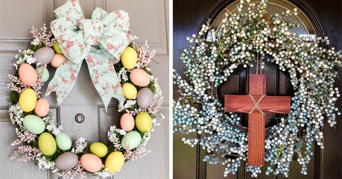 Nápady, inšpirácie na najkrajšie veľkonočné vence na dvere. Vence na Veľkú Noc, jarné vence, veľkonočné handmade dekorácie, dekoratívne vence, DIY