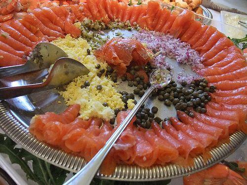 Smoked Salmon Platter Presentation | Smoked Salmon on the Sunday Brunch Buffet at The Worthington Inn