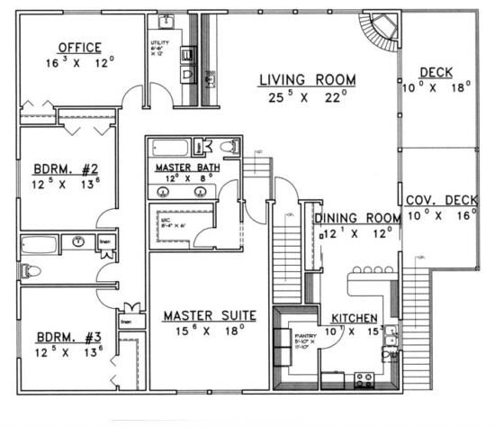 House plan 039 00381 2 500 square feet 3 bedrooms 3 for Garage apartment floor plans