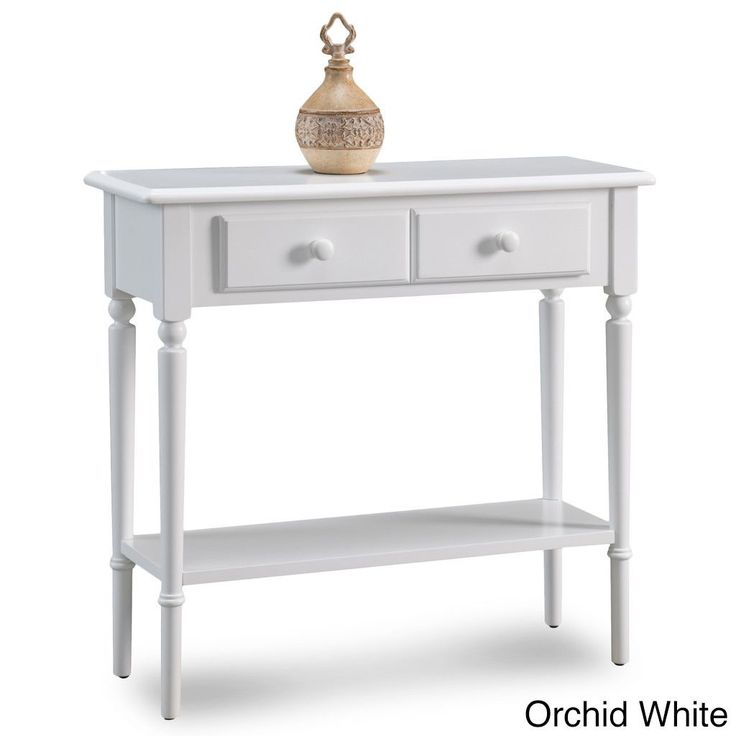 KD Furnishings Coastal Narrow Hall Stand/Sofa Table With Shelf