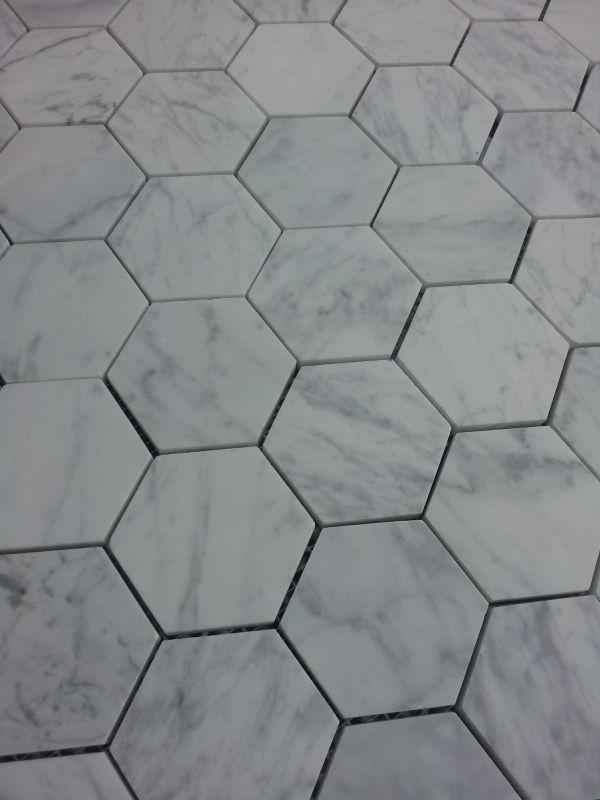 Handtillverkat hexagonkakel av marmor - Italien (1m²)