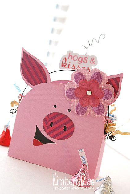 DIY-We R Memory Keepers  'Crazy for You' Hogs and Kisses Candy Box!