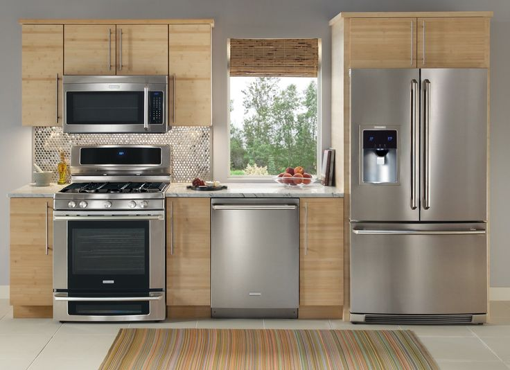 charming Stainless Kitchen Appliances Package Deals #5: Kitchen. Likeable Brown Appliances Gas Stoves Carpet In Above Cabinets Stainless  Steel In Under Oven Kitchen Natural High End Microwave Having Wooden ...
