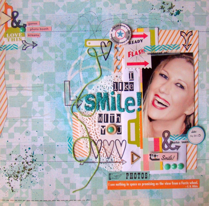 "Judy Scrap: lo ""i like smile"" para KDS"